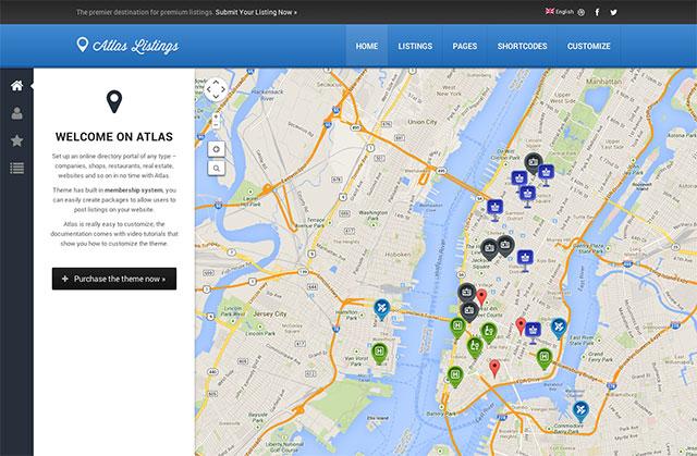 Atlas Directory Theme for WordPress free download