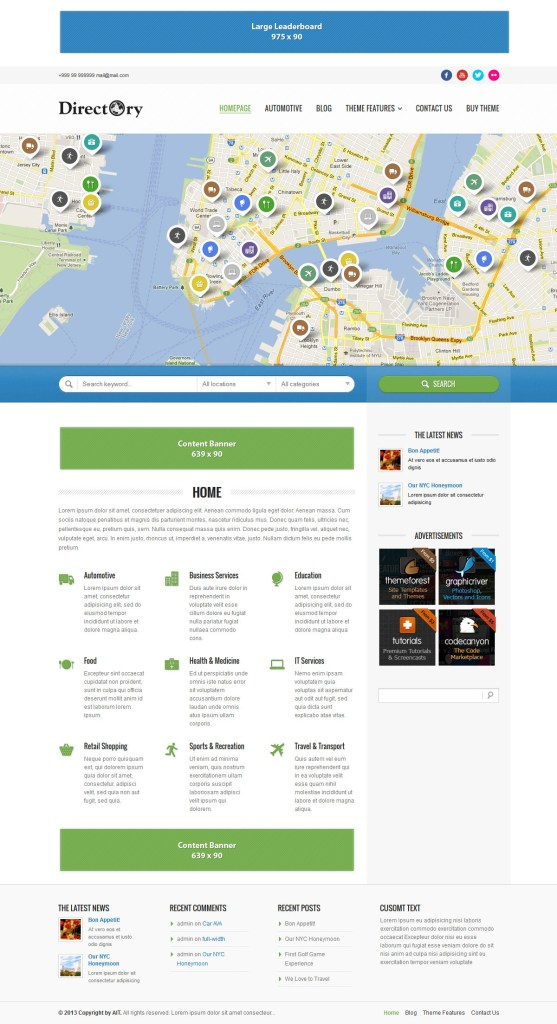 Directory Theme for WordPress free download