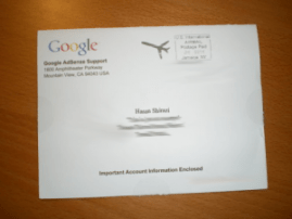 Google Adsense Verification Mail Envelop