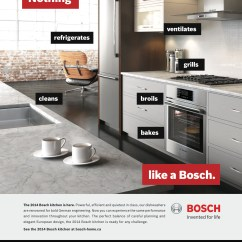 Bosch Kitchen Table Storage Wants You To Know It S More Than Just Dishwashers Marketing We Had A Great Problem Everyone Loves Our But Most Don T Even That Make All Appliances From Fridges Wall Ovens Said Steve