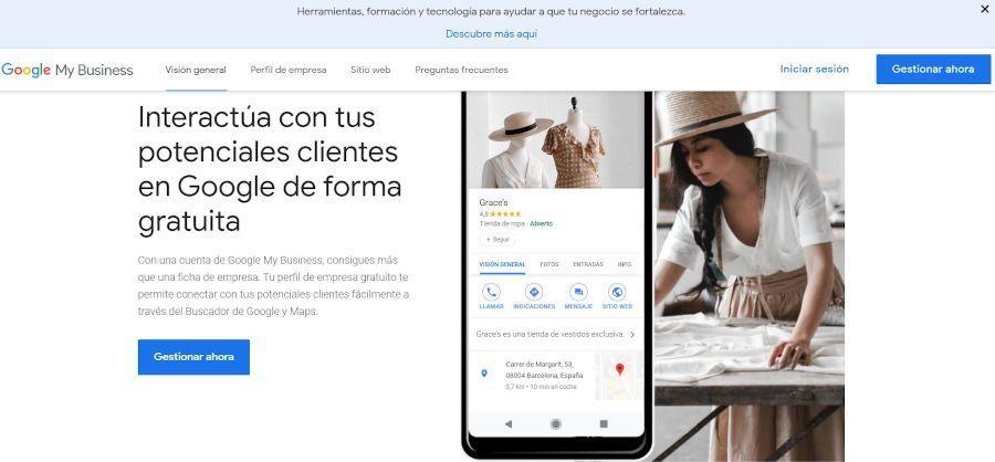 Google Mybusiness posicionamiento SEO local