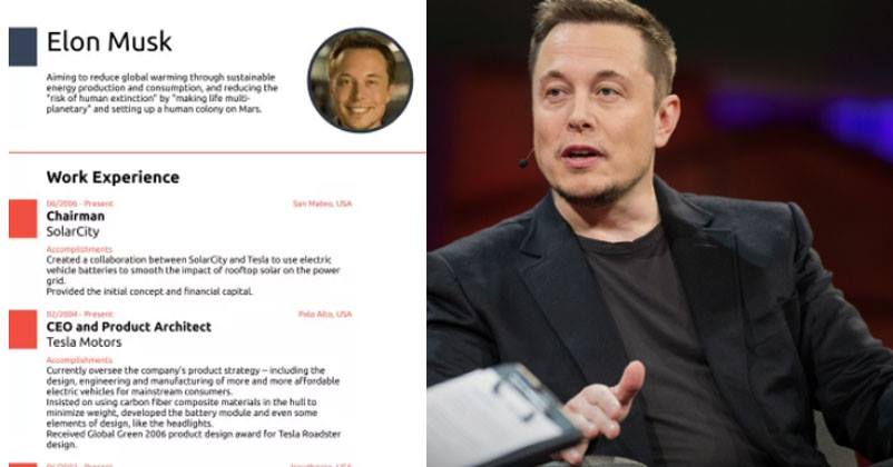 Writing A Good CV Is An Art. Sometimes Its The CV Which Makes The  Difference Between Getting Selected Or Not In The Job Interview.  Elon Musk Resume