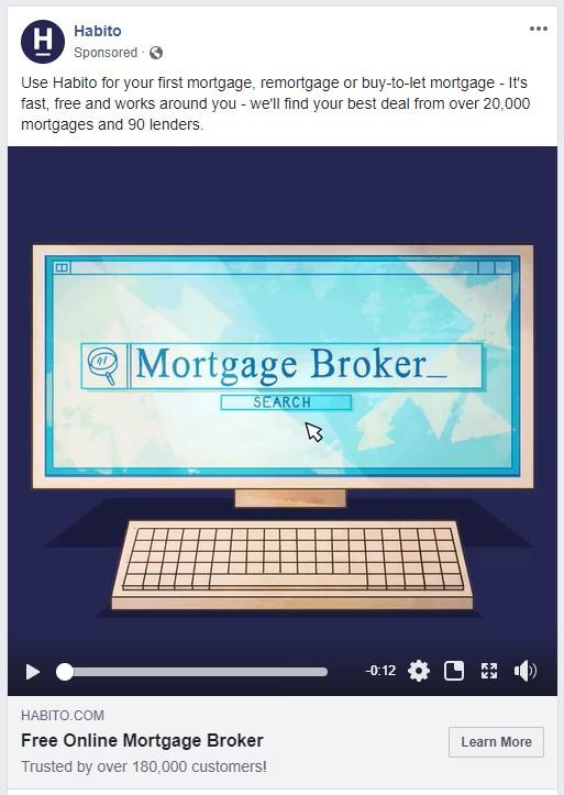 Habito remarketing Facebook Advert