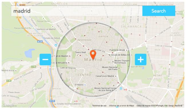 Twitter para empresas y negocios - Area de localización