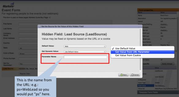 Marketo Form Hidden Field URL Parameter