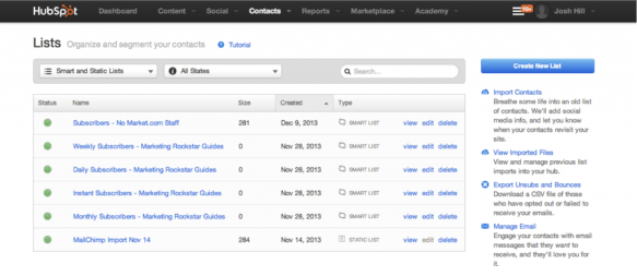 Creating Lists in HubSpot