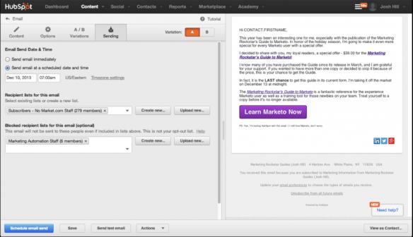 HubSpot Email Setup