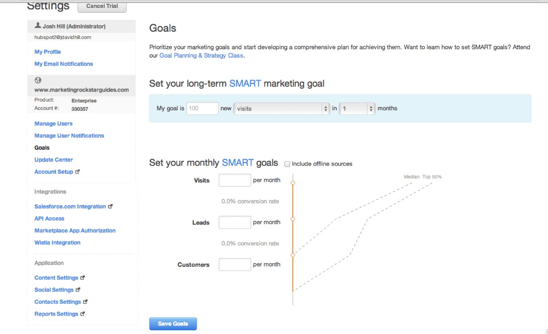 Hubspot reviewed by a marketo user marketing rockstar guides hubspot smart goal setup xflitez Gallery