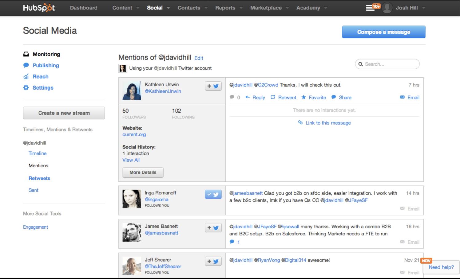 Hubspot reviewed by a marketo user marketing rockstar guides hubspot social media monitoring xflitez Gallery