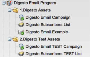 Digesto Test Campaign Tree