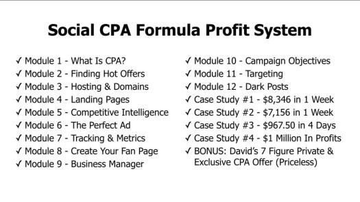 Social CPA Formula Profit System