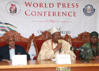 Awujale Endows N250m Professorial Chair at the Olabisi Onabanjo University