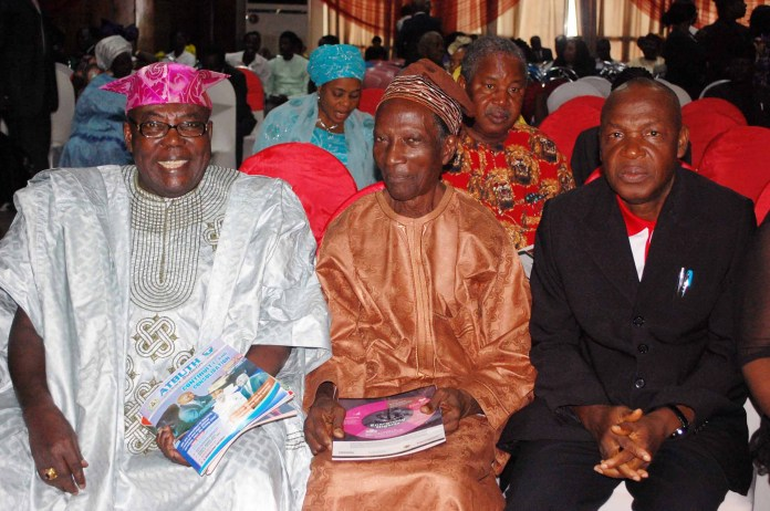 L-R: Former President, Nigerian Institute of Public Relations (NIPR), Chief Jibade Oyekan; for NIPR Registrar, Mr Adekunle Salu and Chief-of-Staff to the NIPR President, Mr Willy Ogbidi during the event.