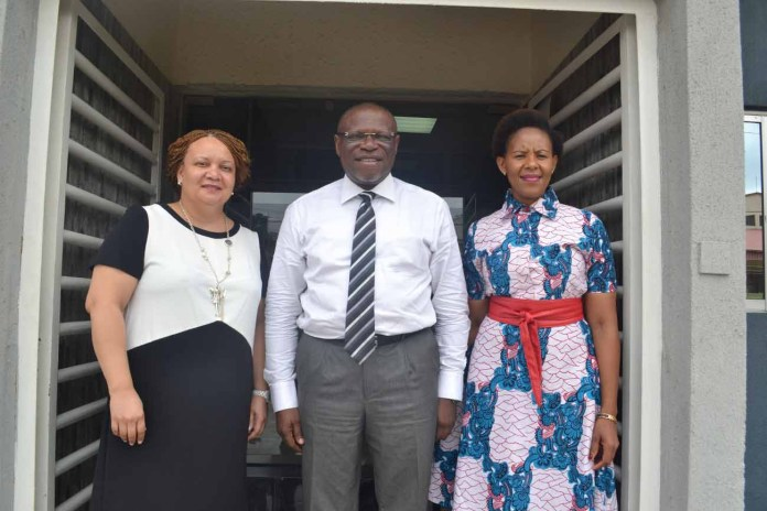 From left: Linda Magapatona-Sangaret, Chief Marketing Officer of Brand South Africa; John Ehiguese, President, Public Relations Consultants Association of Nigeria (PRCAN); and Sindiswa Mququ, General Manager for Africa and Middle East, Brand South Africa, during the courtesy visit to PRCAN by Brand South Africa