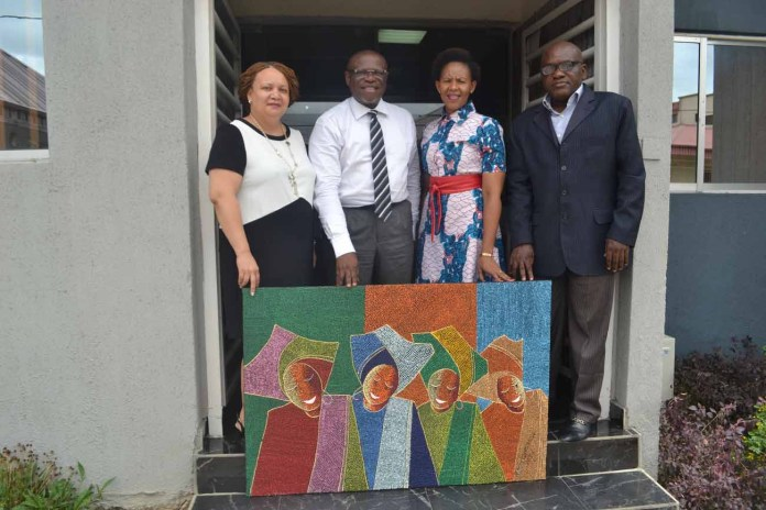 From left: Linda Magapatona-Sangaret, Chief Marketing Officer of Brand South Africa; John Ehiguese, President, Public Relations Consultants Association of Nigeria (PRCAN); Sindiswa Mququ, General Manager for Africa and Middle East, Brand South Africa; and Muyiwa Akintunde, Vice President PRCAN, during the courtesy visit to PRCAN by Brand South Africa