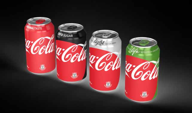 Coca-Cola's new packaging features a unified design Credit: Coca-Cola