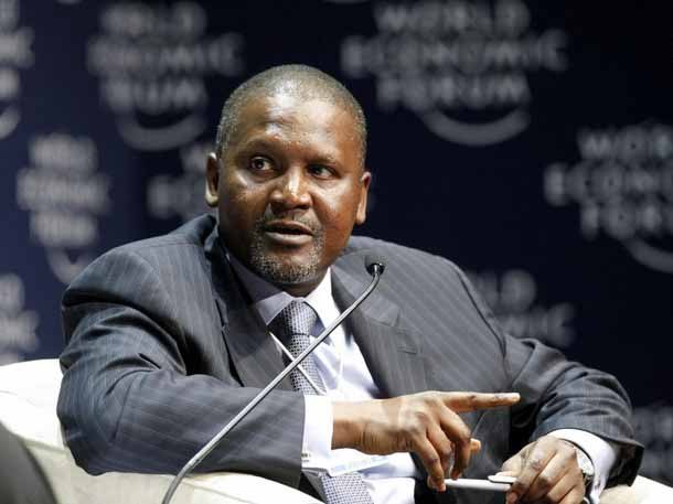 Aliko Dangote, President and Chief Executive of Nigeria's Dangote Group speaks during the final session of the World Economic Forum on Africa meeting in Cape Town June 6, 2008. REUTERS/Mike Hutchings (SOUTH AFRICA)