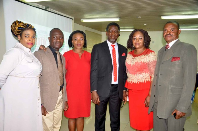 L-R: Mrs Toyin Adeseun-Nwosu, Public Relation Executive, Oladapo Soneye, Assistant General Secretary NIPR, Thelma Okoh, General Secretary, Olusegun Mcmedal, Chairman NIPR Lagos State Chapter, Mrs Confort Nwankwo,Vice Chairman and Kalu Olekauwa,Treasurer during the Inaugural Press Briefing of Nigeria institute of Public Relation (NIPR)Lagos State Chapter New EXCO in Lagos.