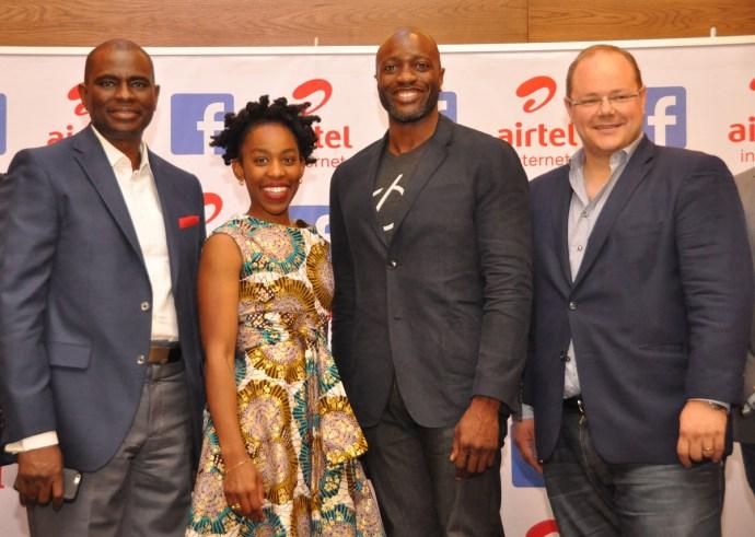 L-R: CEO, Airtel, Segun Ogunsanya Ebele Okobi Ime Archibong and Markku Makelainen
