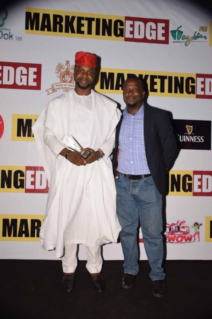 L-R: Adebola Williams, Founding Partner RED, Anietie Udoh, GM MarketingEdge Magazine.