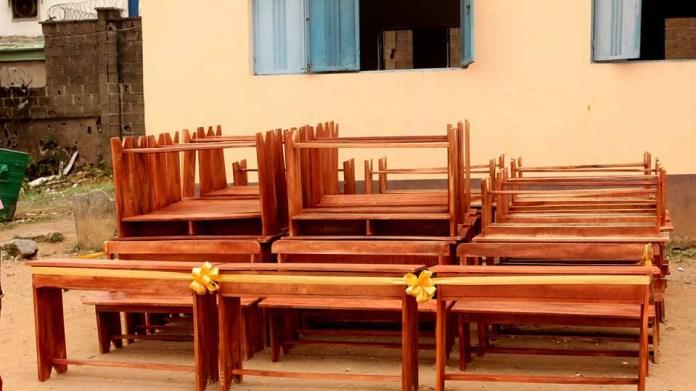 CSR: ILUSEC Alumni donates 50 sets of classroom furniture