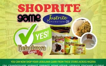 IJebulawa Garri Berths In Shoprite, Spar, Others-marketingspace.com.ng