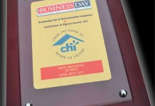 Chi Limited Wins Most Innovative FMCG Company Award-marketingspace.com.ng