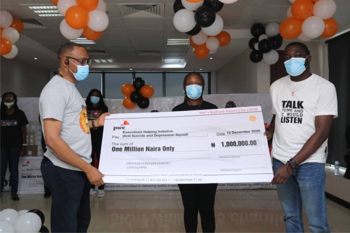 PwC Holds Annual Walk For Charity, Donates N5m To 5 Selected Charities-marketingspace.com.ng