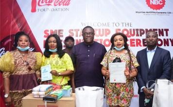 NBC, Coca-Cola Present Start-Up Equipment To Vulnerable Nigerians-marketingspace.com.ng