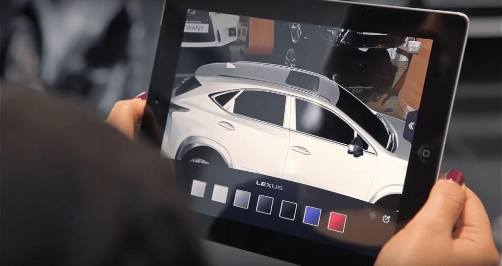 Lexus's augmented reality app enables customization.
