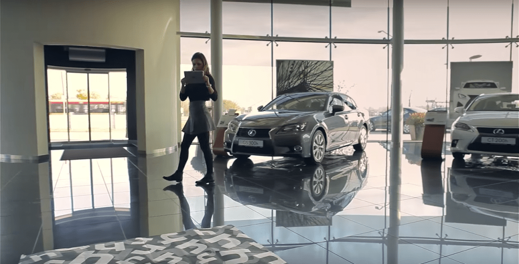 Lexus' AR app enabled customization for buyers in the showroom.