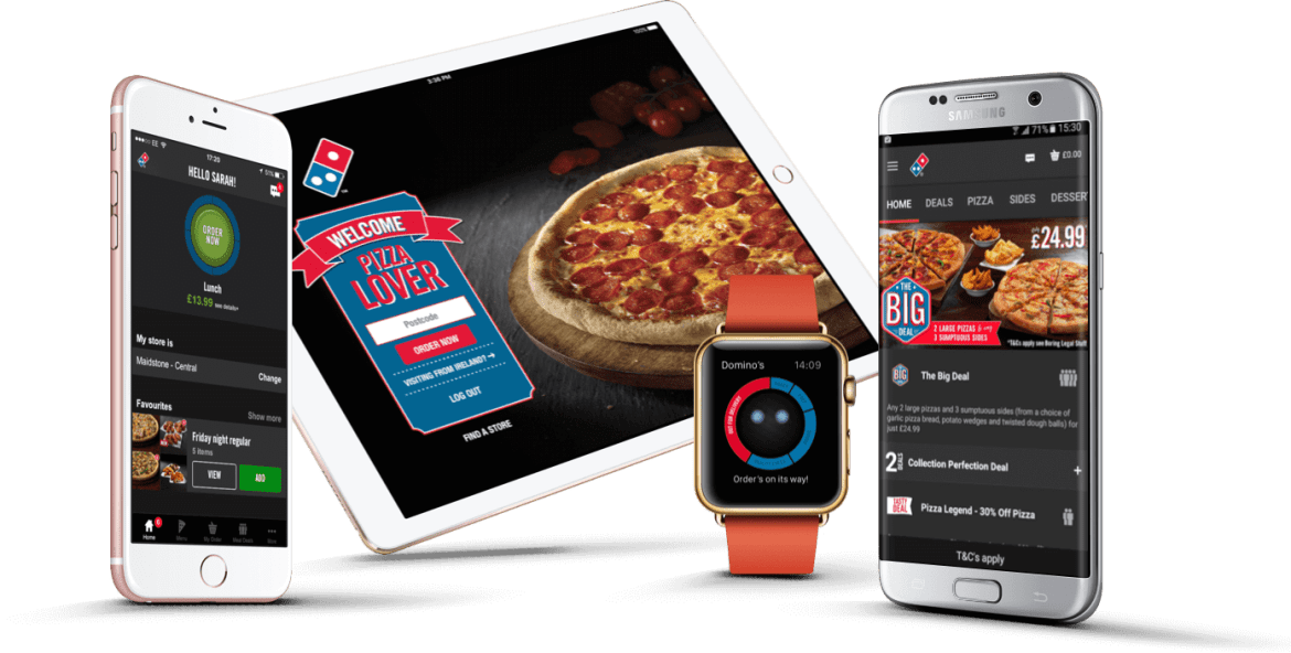 Domino's practices omnipresence, being available on every device