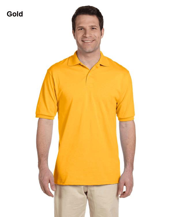 Jerzees Adult 5.6 oz. SpotShield Jersey Polo Shirt Gold