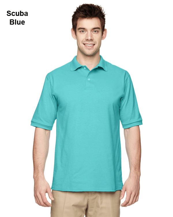 Jerzees Adult 5.6 oz. SpotShield Jersey Polo Shirt Scuba Blue