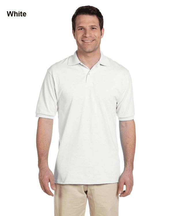 Jerzees Adult 5.6 oz. SpotShield Jersey Polo Shirt White