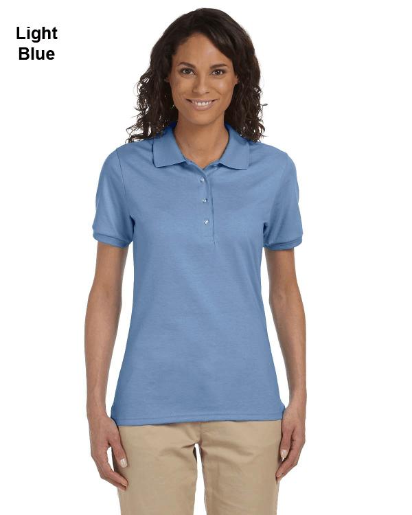 Jerzees Ladies 5.6 oz. SpotShield Jersey Polo Shirt Light Blue