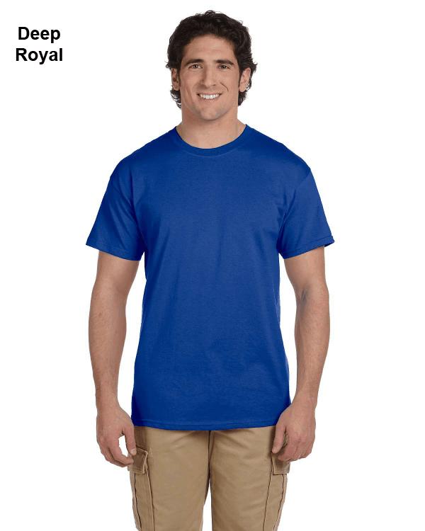 Hanes Adult 5.2 oz., 50/50 EcoSmart® T-Shirt Deep Royal