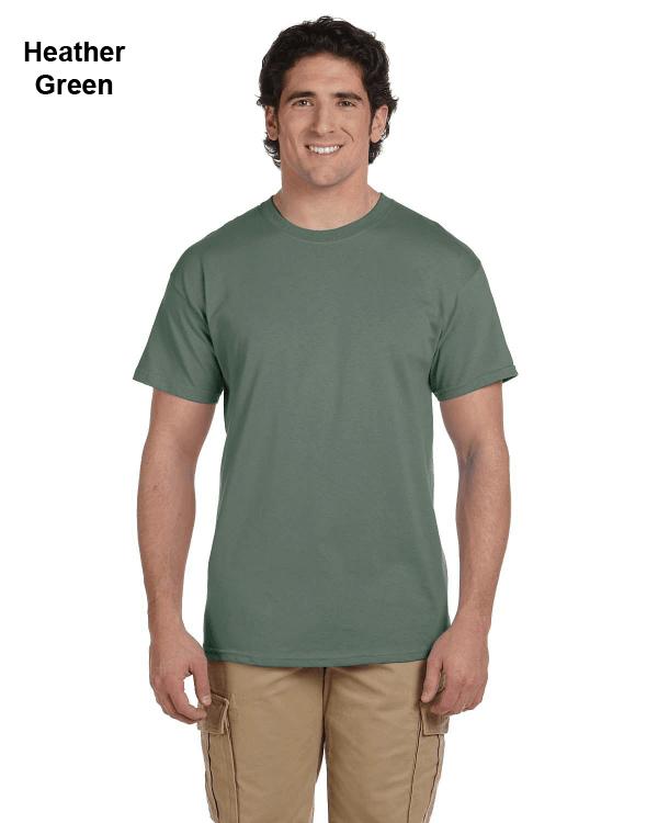 Hanes Adult 5.2 oz., 50/50 EcoSmart® T-Shirt Heather Green