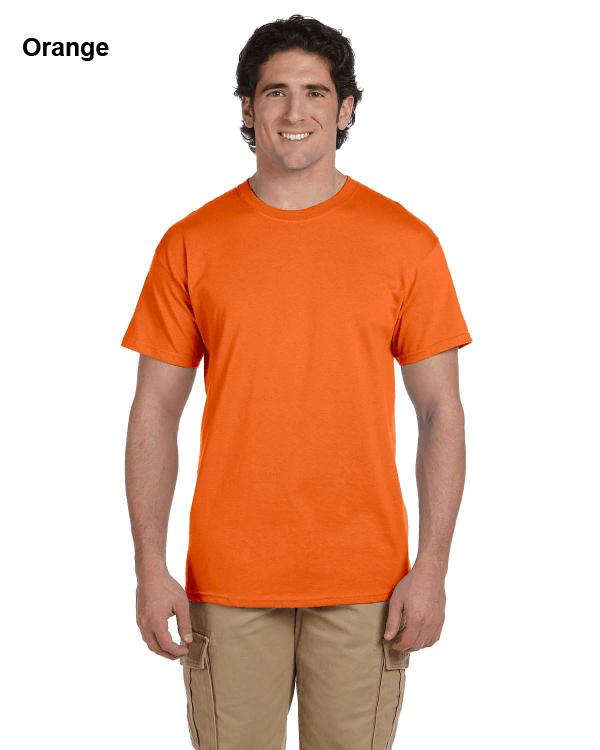 Hanes Adult 5.2 oz., 50/50 EcoSmart® T-Shirt Orange