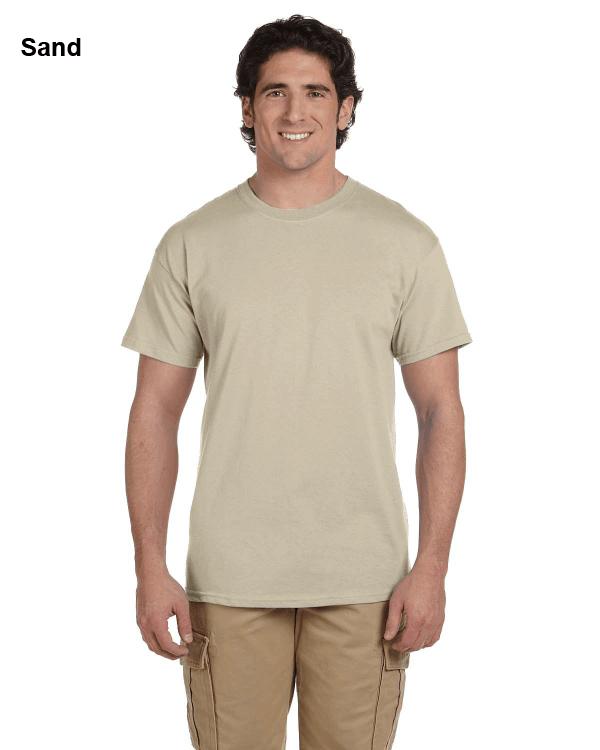 Hanes Adult 5.2 oz., 50/50 EcoSmart® T-Shirt Sand