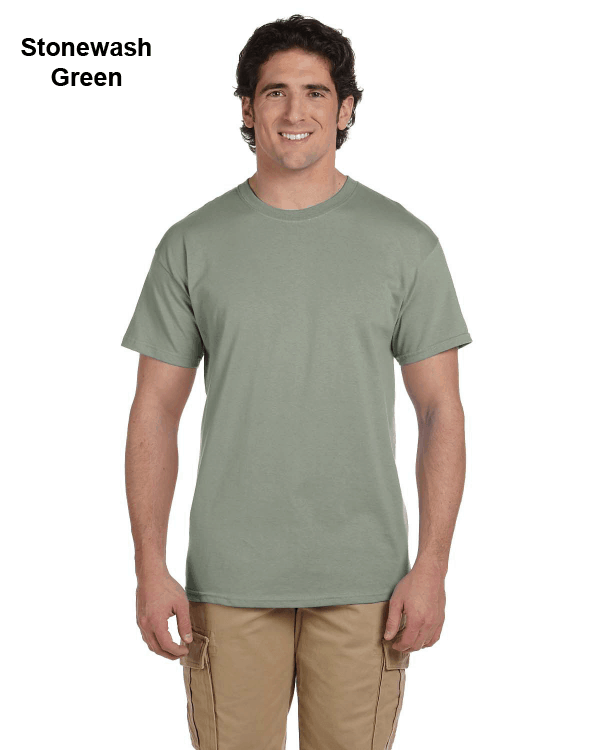 Hanes Adult 5.2 oz., 50/50 EcoSmart® T-Shirt Stonewash Green