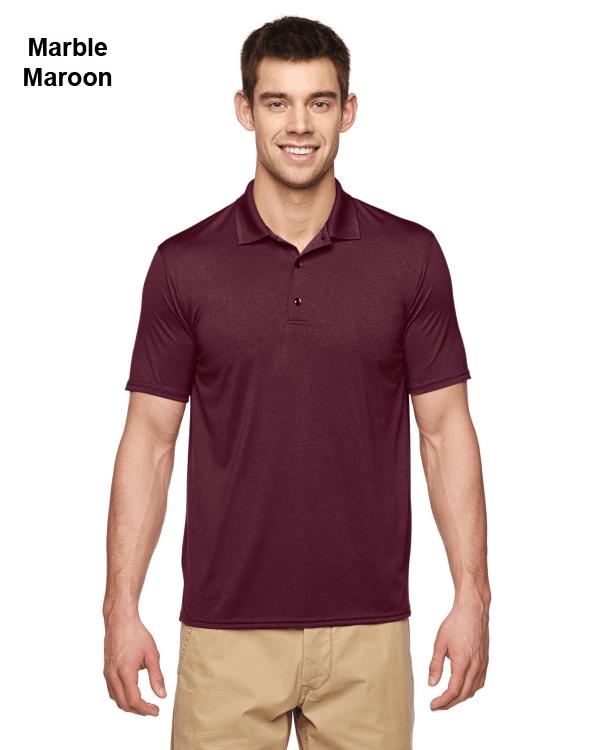 Gildan Adult Performance® 4.7 oz. Jersey Polo Shirt Marble Maroon