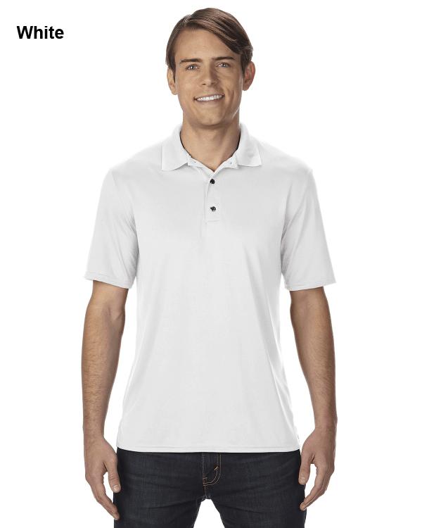 Gildan Adult Performance® 4.7 oz. Jersey Polo Shirt White