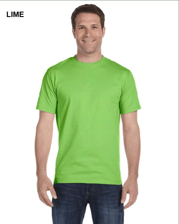 Gildan Adult 5.5 oz., 50/50 T-Shirt Lime