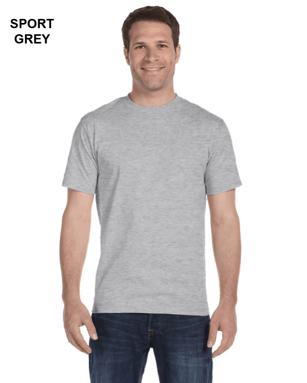 Gildan Adult 5.5 oz., 50/50 T-Shirt Sport Grey