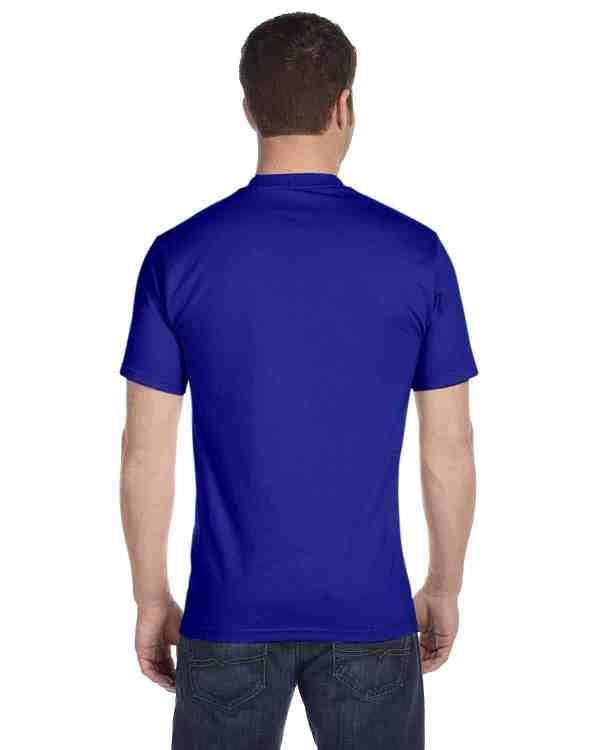 Gildan Adult 5.5 oz., 50/50 T-Shirt Sport Royal Back