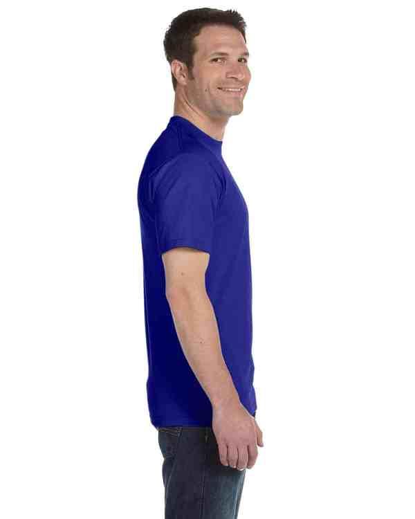 Gildan Adult 5.5 oz., 50/50 T-Shirt Sport Royal Side