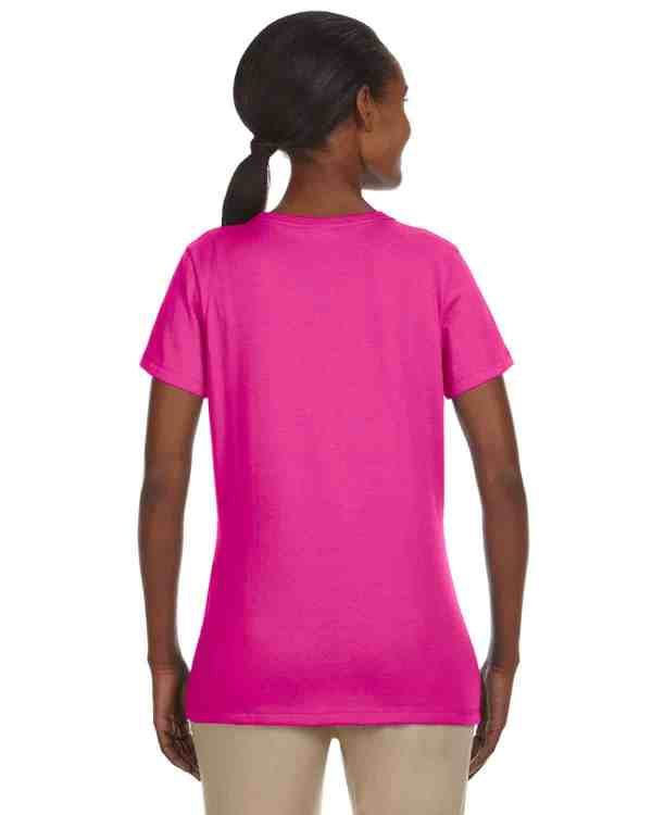 Jerzees Ladies 5.6 oz. DRI-POWER ACTIVE T-Shirt Cyber Pink Back