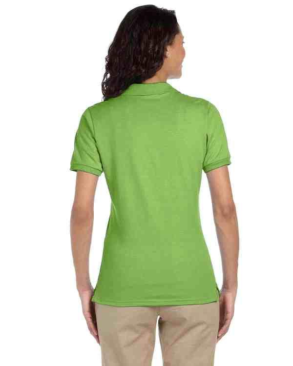 Jerzees Ladies 5.6 oz. SpotShield Jersey Polo Shirt Kiwi Back