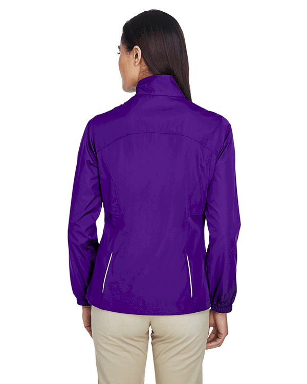 Core 365 Ladies Motivate Unlined Lightweight Jacket Campus Purple Back
